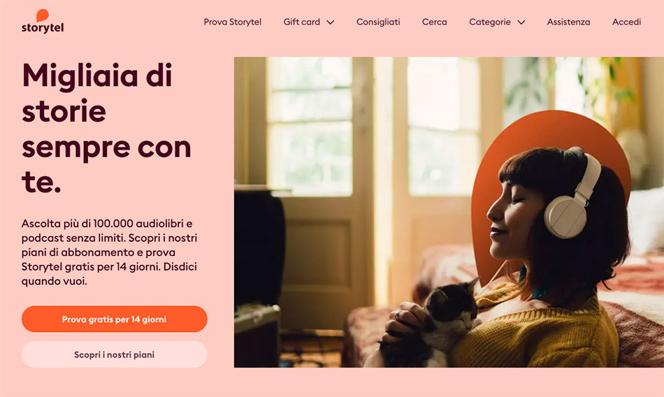storytel home page
